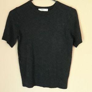 Zara knit grey crop top size medium